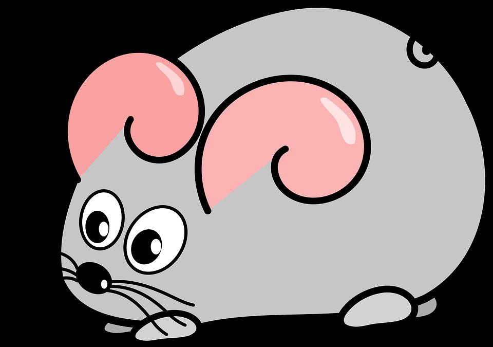 nakreslená myš